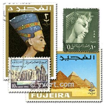 EGYPTIAN ART: envelope of 25 stamps