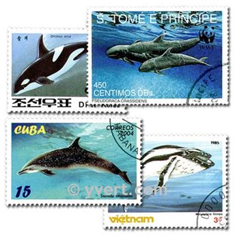 CETACEANS: envelope of 25 stamps