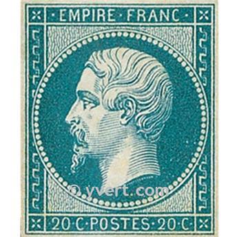 n° 14A obl. - Napoléon III (Empire Non dentelé)