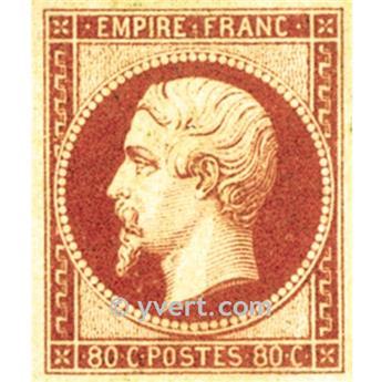 n° 17B obl. - Napoléon III (Empire Non dentelé)