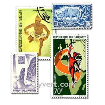 COLONIAS FRANCIA A. DE LA INDEPENDENCIA: lote de 1000 sellos