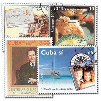 CUBA : pochette de 1500 timbres