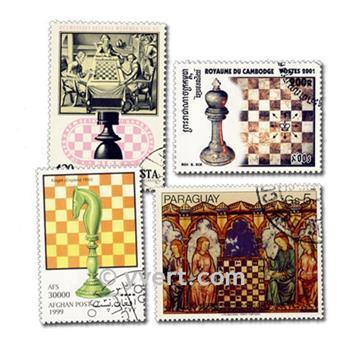 AJEDREZ: lote de 100 sellos