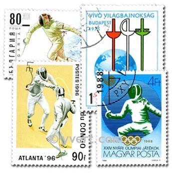 ESGRIMA: lote de 50 sellos