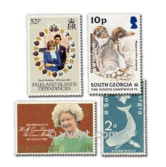 FALKLAND ISLANDS: envelope of 25 stamps
