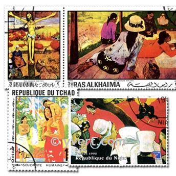 GAUGUIN: lote de 25 sellos