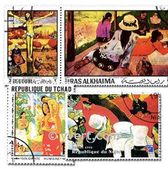 GAUGUIN : pochette de 25 timbres
