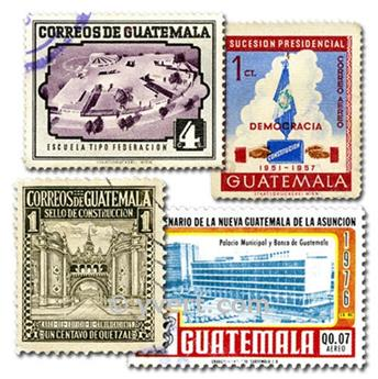 GUATEMALA: envelope of 100 stamps