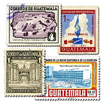 GUATEMALA : pochette de 100 timbres