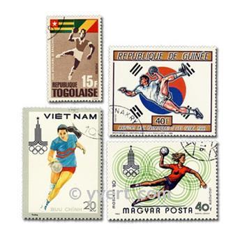 HAND BALL  : pochette de 25 timbres