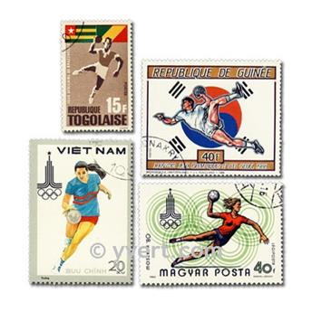 HANDBALL: envelope of 25 stamps