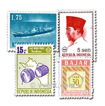 INDONESIA: lote de 300 sellos