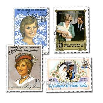 LADY DIANA : pochette de 50 timbres