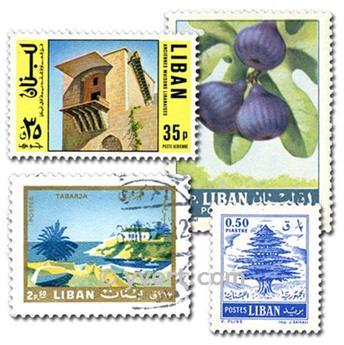 LIBAN : pochette de 100 timbres