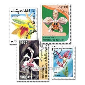 ORCHID: envelope of 100 stamps