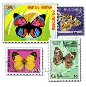PAPILLONS : pochette de 300 timbres