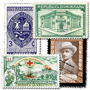 DOMINICAN REPUBLIC: envelope of 50 stamps