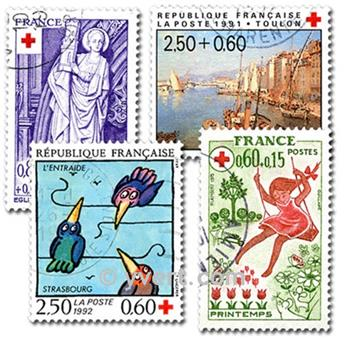 REP. FRANCESA CRUZ ROJA: lote de 50 sellos