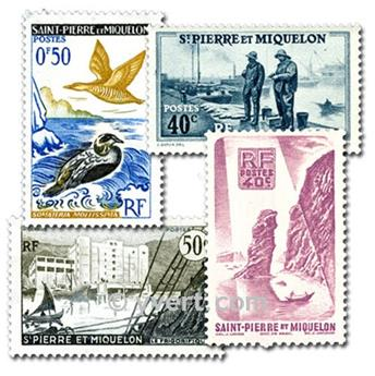 ST PIERRE AND MIQUELON: envelope of 25 stamps