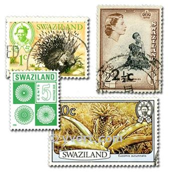 SWAZILAND : pochette de 50 timbres