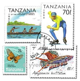 TANZANIE : pochette de 200 timbres
