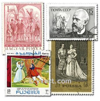 TEATRO E ÓPERA: lote de 50 selos