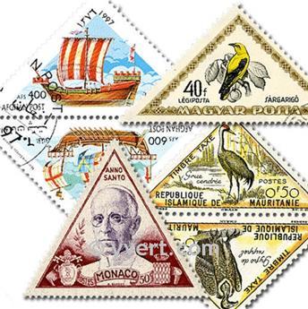 TRIÁNGULOS: lote de 100 sellos