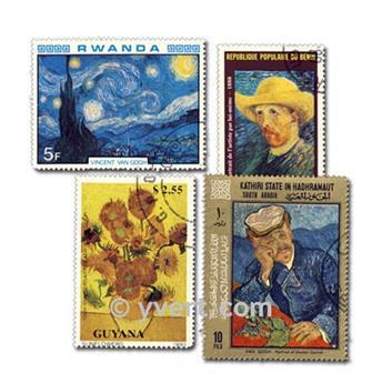 VAN GOGH: lote de 25 sellos