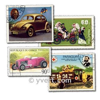 VOITURES : pochette de 100 timbres