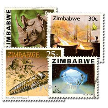 ZIMBABWE : pochette de 50 timbres