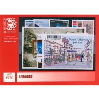 n.o 718/733 -  Sello Andorra Año completo (2012)
