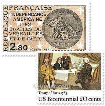 1983 - Emisiones comunes - Francia - USA