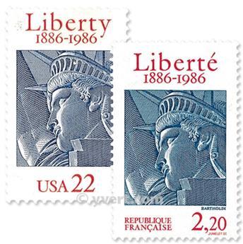 1986 - Emissão conjunta-França-Estados Unidos