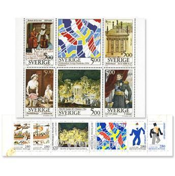 1994 - Emissão conjunta-França-Suécia-(lote)