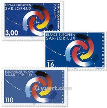 1998 - Emisiones comunes - Francia - Alemania - Luxemburgo (Fundas)