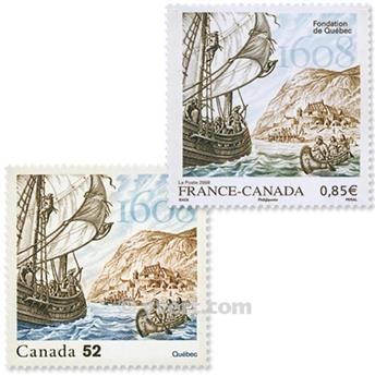 2008 - Joint issue-France-Canada-(mounts)