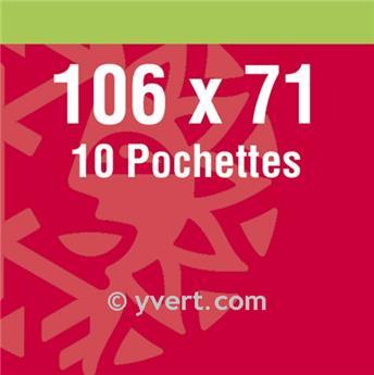 Pochettes double soudure - Lxh:106x71mm (Fond noir)