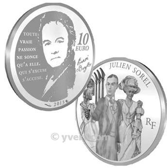 10 EUROS PRATA - França - JULIEN SOREL