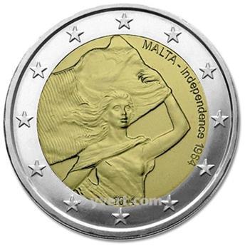 2 EURO COMMEMORATIVE 2014 : MALTE (50e anniversaire de l'indépendance de Malte)