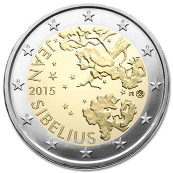 2 EURO COMMEMORATIVE 2015 : FINLANDE (150e anniversaire de la naissance du compositeur finlandais Jean Sibelius)