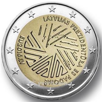 2 EURO COMMEMORATIVE 2015 : LETTONIE (Présidence lettonne du Conseil de l'Union européenne)