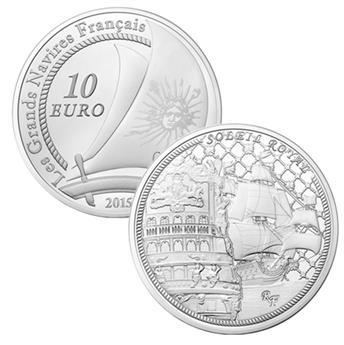 10 EUROS PRATA - França - LE SOLEIL ROYAL
