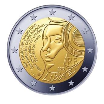 €2 COMMEMORATIVE COIN  2015 : FRANCE (fête de la fédération)
