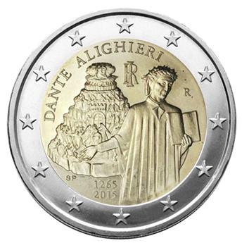 2 EURO COMMEMORATIVE 2015 : ITALIE (750e anniversaire de la naissance de l'écrivain florentin Dante Alighieri)