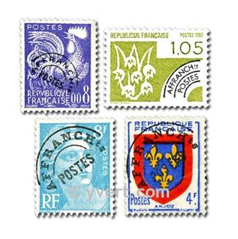 FRANÇA PRÉ-OBLITERADOS: lote de 25 selos