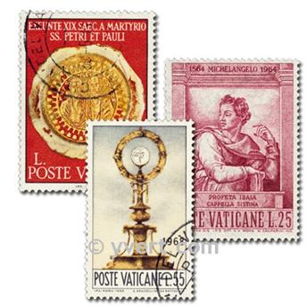 VATICAN: envelope of 50 stamps