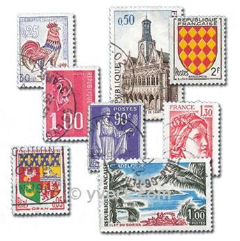 FRANÇA: lote de 400 selos