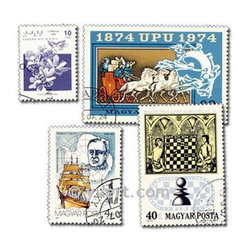 MONDE ENTIER : pochette de 3000 timbres