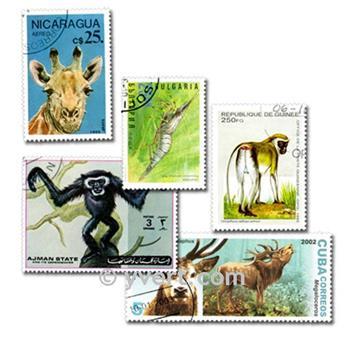 ANIMALES: lote de 200 sellos