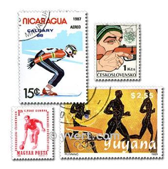 SPORTS : pochette de 200 timbres
